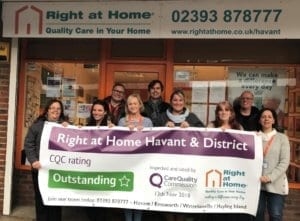 Right at Home Havant and District Achieves 'Outstanding' Rating from the Care Quality Commission